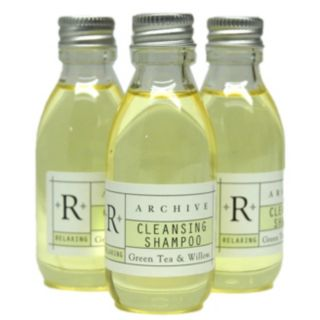 Archive 0015835 Essentials Collection 45 ml Green Tea and Willow Clear Shampoo - Guest Supply - 0015835