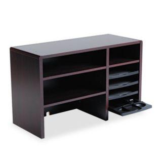Desktop Organizer, Nine Sections, 29 x 12 x 18, Mahogany - Safco - SAF3692MH