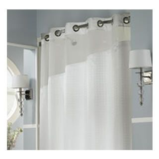 Holiday Inn Refresh Hookless Shower Curtain and Liner - Guest Supply - 0003769