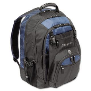 "17"" Laptop Backpack, File Compartment, Audio Player Sleeve, Black/Blue - Targus - TRGTXL617"