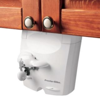 Hamilton Beach 75400Y Proctor Silex Under The Cabinet White Electric Can Opener - Hamilton Beach - 75400