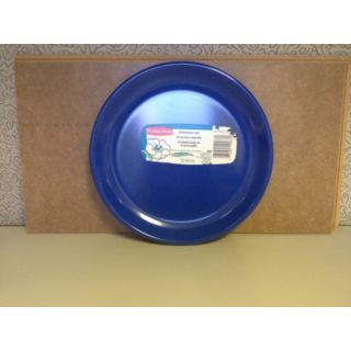 "Rubbermaid 655-3838BL 8"" Euro Blue Salad Plate - Commercial - Rubbermaid Commercial - 655-3838BL"