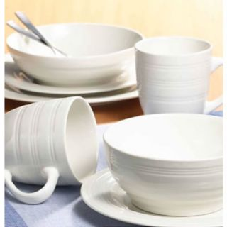 Thomson Pottery 201903 Sphere 16 Piece White Dinnerware Set - Thomson Pottery - 201903