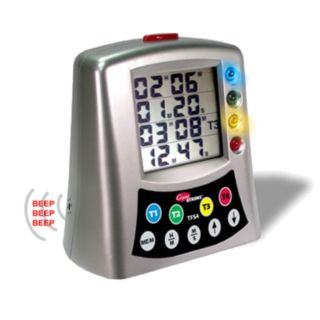 Cooper Atkins TFS4-0-8 Silver Multi-Station Lcd  Timer - Cooper Atkins - TFS4-0-8