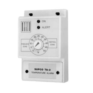 "Fmp 138-1029 White 4-7/8""H X 3""W X 1-5/8""D Refrigerator/Freezer Temperature Alarm - Franklin Machine Products - 138-1029"