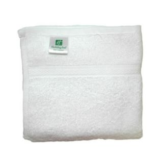 "Welspun USA Holiday Inn & Holiday Inn Express White Bath Towel - 27"" x 54"" - 15 lb - Welspun Usa - HIHX-TW-BT-01"